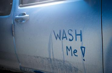 Wash me - dirty car