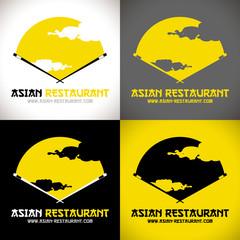 restaurant asiatique logo baguettes