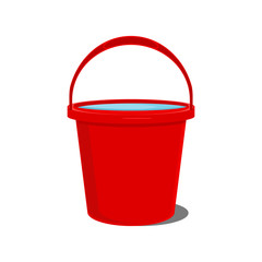 Red bucket icon