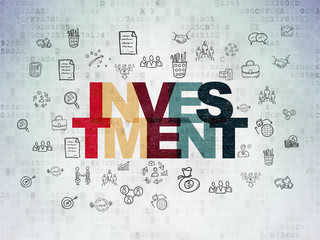 Business concept: Investment on Digital Data Paper background