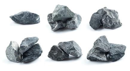 Set of Granite stones on the white background