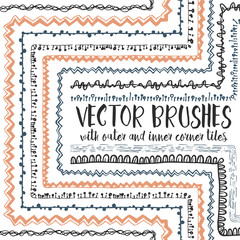 10 hand drawn decorative seamless pattern brushes