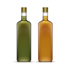 Set of Alcohol Alcoholic Beverages Drinks Whiskey Oil Glass Bottles