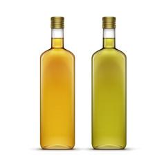 Set of Alcohol Alcoholic Beverages Drinks Whiskey Oil Glass Bottles