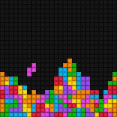 Pixelated game tetris pattern