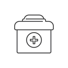 line icons Medical Pharmacist, medicine Bag