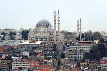 Suleymaniye mosque in the historic Sultanahmet district. Istanbu