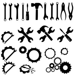 Various Isolated Tools set