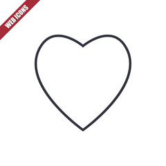 Thin line heart icon