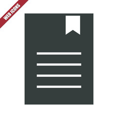 Solid document with bookmark icon