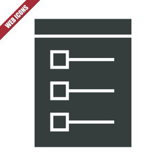 Solid task list icon
