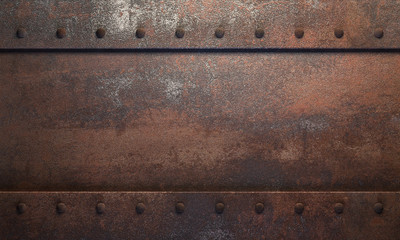 Stahl-Hintergrund mit Rost