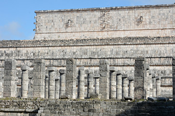 Market place and thousand columns Mayan archeological site of Ch