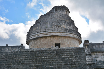 Observatory El Caracol. Mayan archeological site of Chichen Itza
