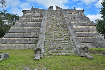 The grave of the priest. Mayan archeological site of Chichen Itz
