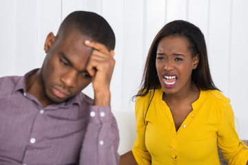Woman Having Argument With Man