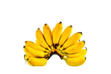 Banana bunch isolated on white background