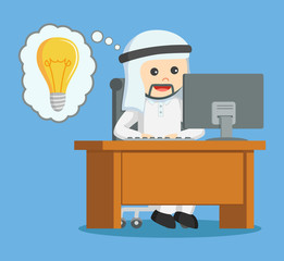 arab businessman got idea while working