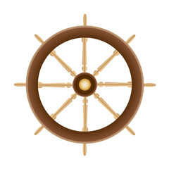 Wood Boat Ships Steering Wheel