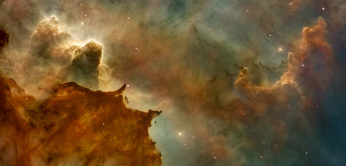 Fotobehang Nasa Beautiful nebula in cosmos far away. Retouched image. Elements of this image furnished by NASA