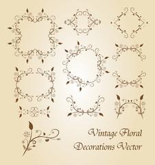 Vintage Floral Decoration vector