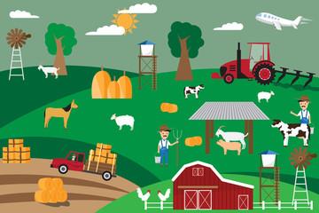 Poster de jardin Route Agriculture infographics elements. vector illustration.