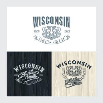 Висконсин, эмблема штата Америки