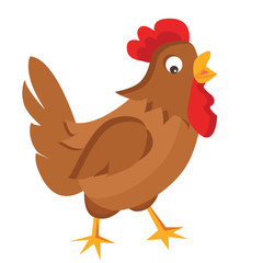 Cartoon hen vector illustration