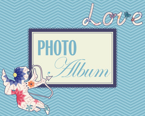 Family weddng album cover vintage