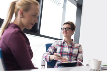 young business woman at modern office meeting room