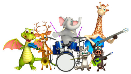 Dear,Boar,Dragon,Giraffe,Raccoon and Elephant collection with pr