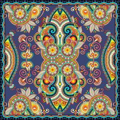 authentic silk neck scarf or kerchief square pattern design in u