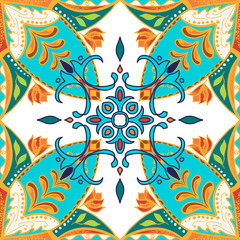 Vector beautiful colored pattern for design and fashion with decorative elements