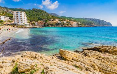 Beach Mediterranean Sea Majorca Spain Holiday