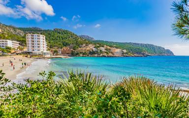 Beautiful view of Majorca Coast Beach Sant Elm