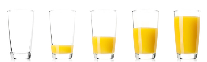 Papiers peints Jus, Sirop Set - glass of fresh orange juice
