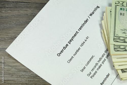 Eine Schriftliche Mahnung Stockfotos Und Lizenzfreie Bilder Auf