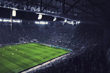 blurred football stadium
