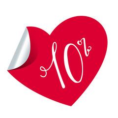 10% - herzförmiger Aufkleber