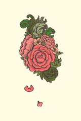 flowering human heart