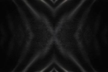 Black leather luxurious background texture with central cross