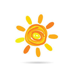 sun cartoon color illustration