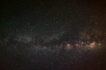 milky way galaxy on a night sky,long exposure photograph, with g