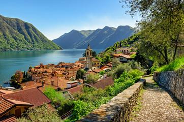 Lago di Como (Lake Como) Colonno and Greenway track Wall mural