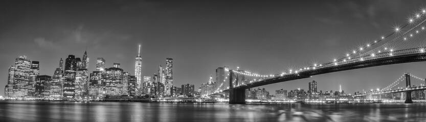 New York manhattan bridge night view Fototapete