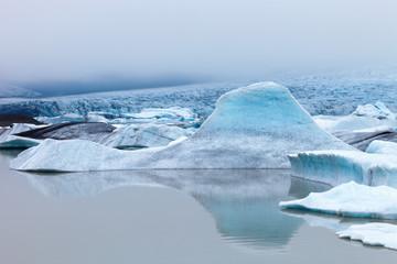Fjallsarlon, glacier iceberg lagoon in Vatnajokull National Park