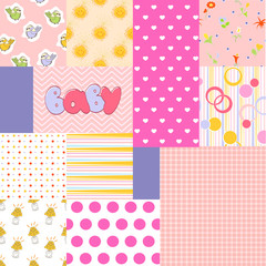 patchwork fabric for newborn