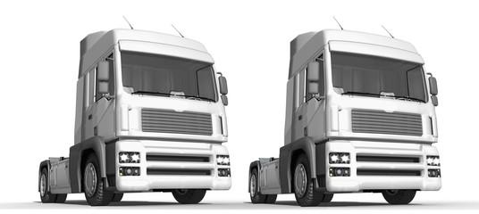 Truck, Zugmaschine, Sattelschlepper, freigestellt