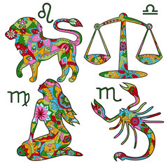 Colorful horoscope set 2