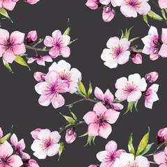 Watercolor sakura pattern